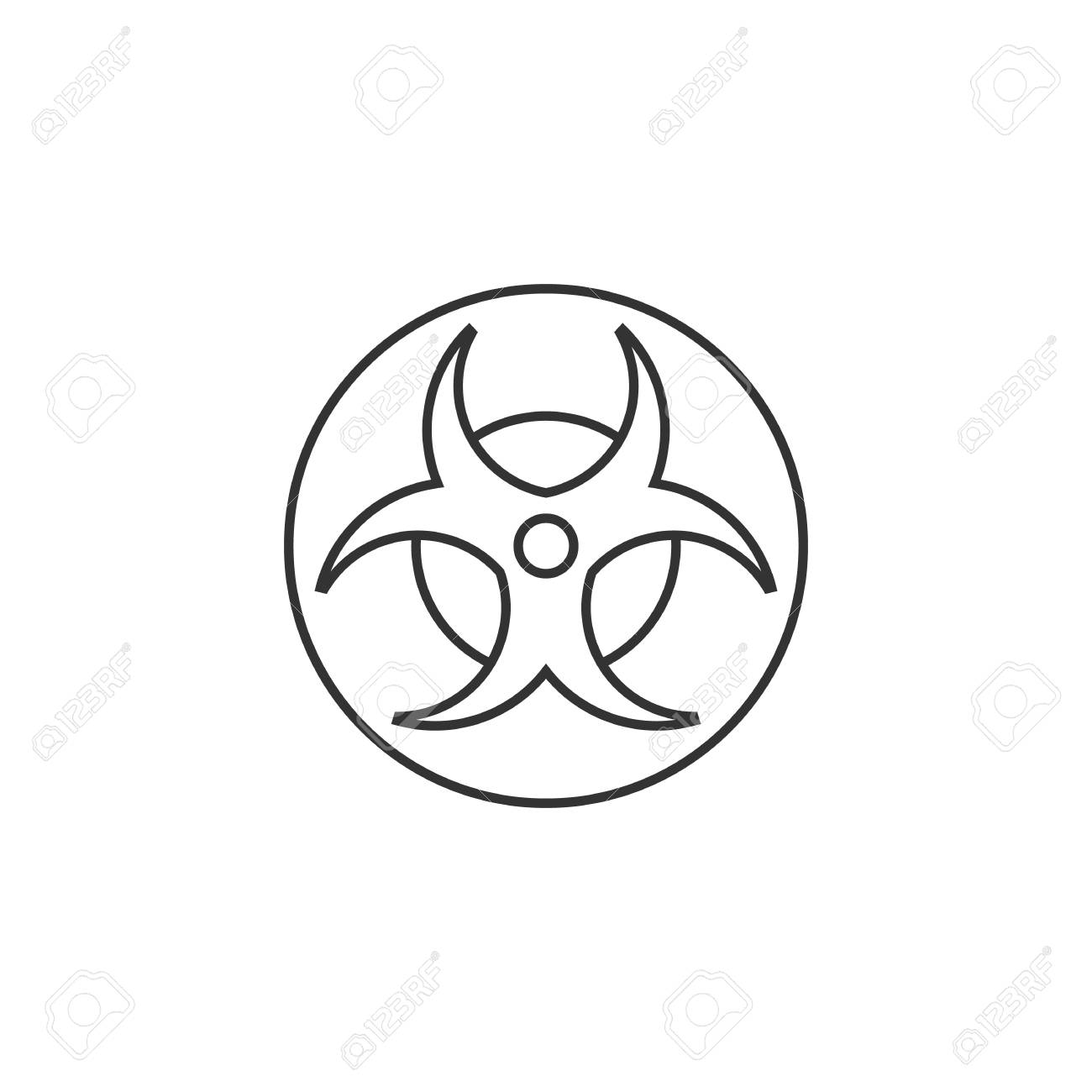 Biohazard symbol icon in thin outline style science technology biohazard symbol icon in thin outline style science technology biology environment hazard danger stock vector buycottarizona Image collections