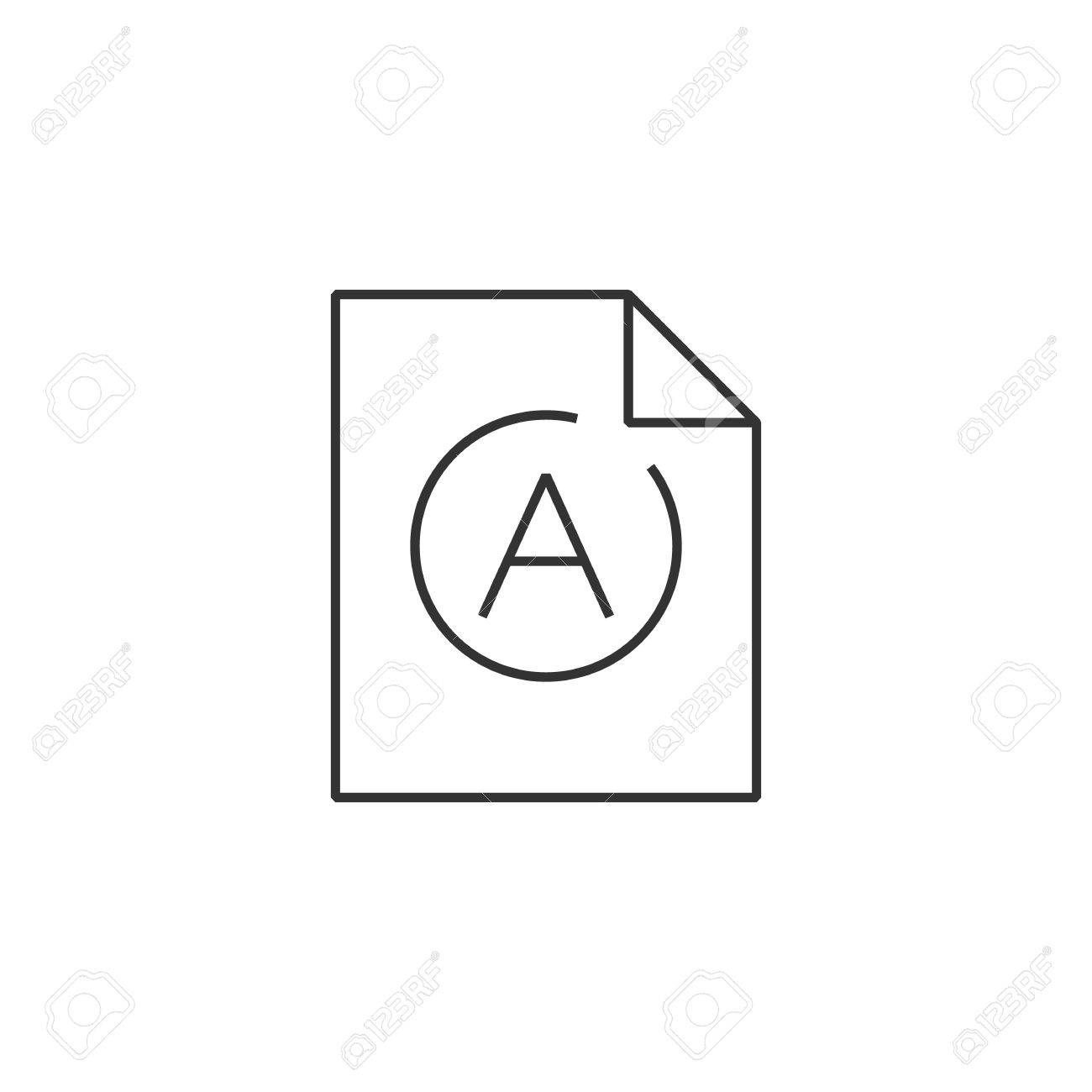 exam result icon in thin outline style education school student  exam result icon in thin outline style education school student essay paper stock vector