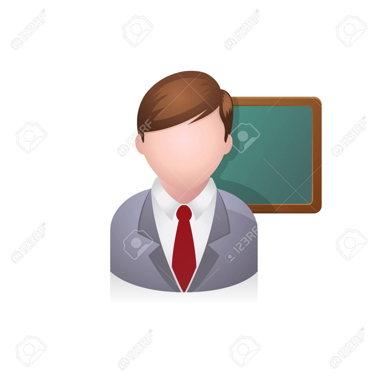 teacher avatar icon in colors stock vector 72741866