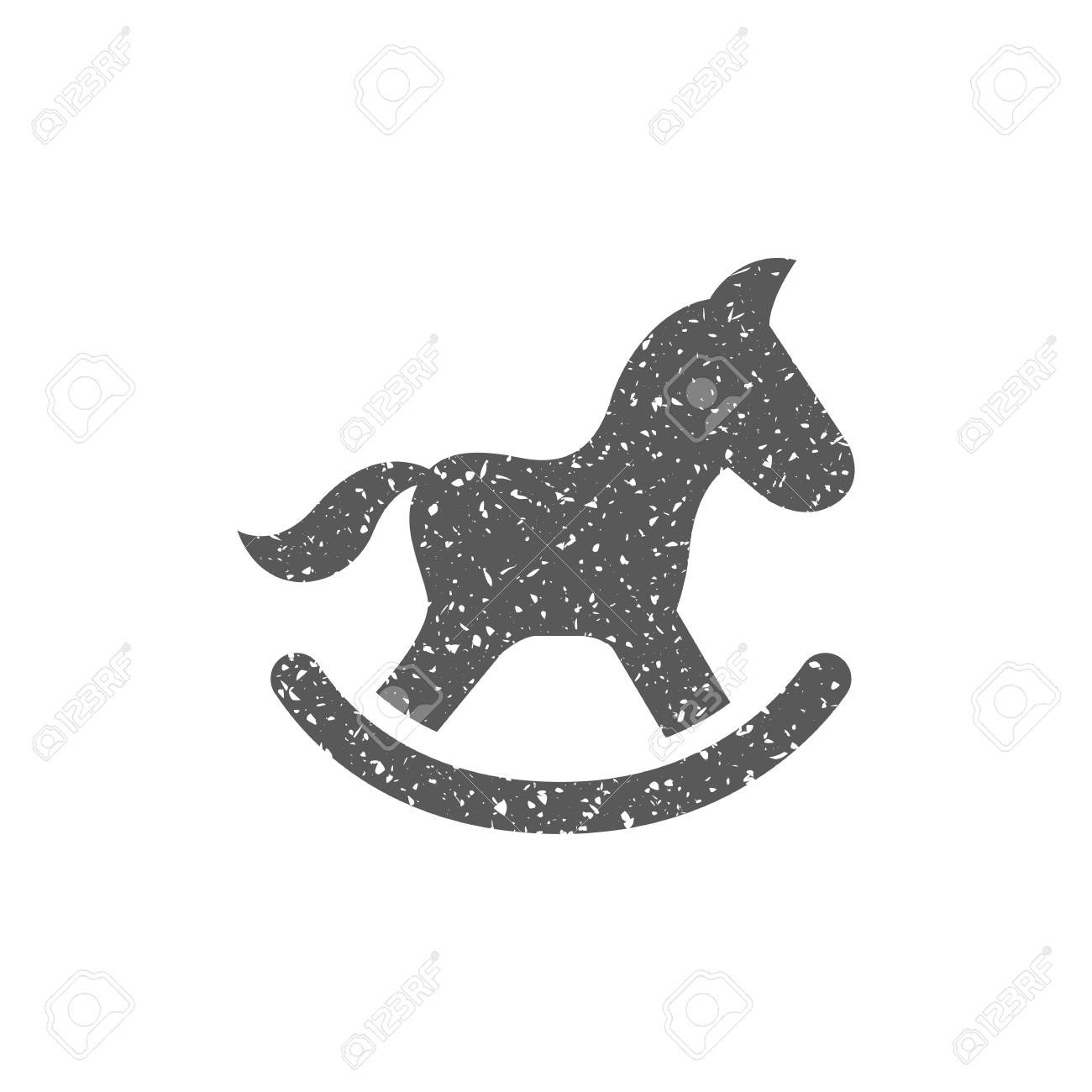 Rocking Horse Toy Icon In Grunge Texture Vintage Style Vector Royalty Free Cliparts Vectors And Stock Illustration Image 112378218