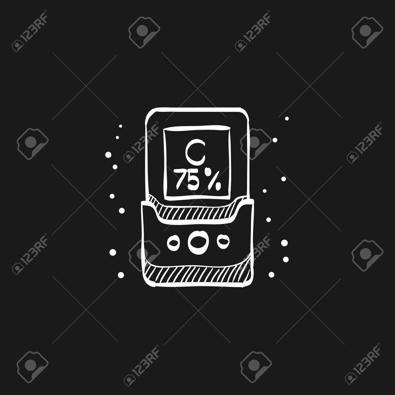 Color calibration icon in doodle sketch lines  Printing color