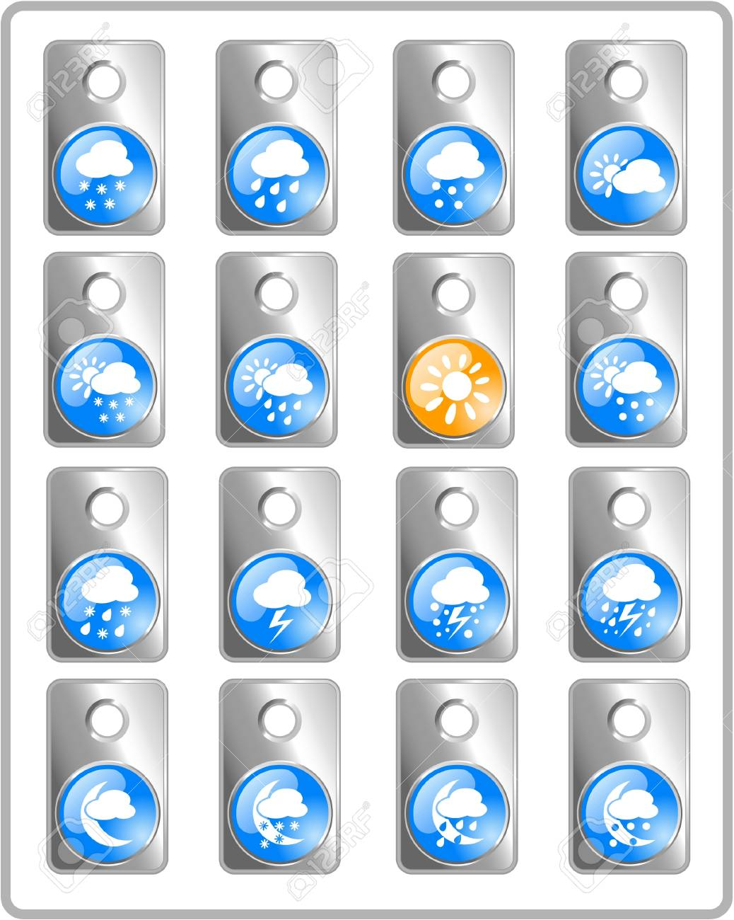 Weather raster iconset. Vector version is available in my portfolio Stock Vector - 5164725