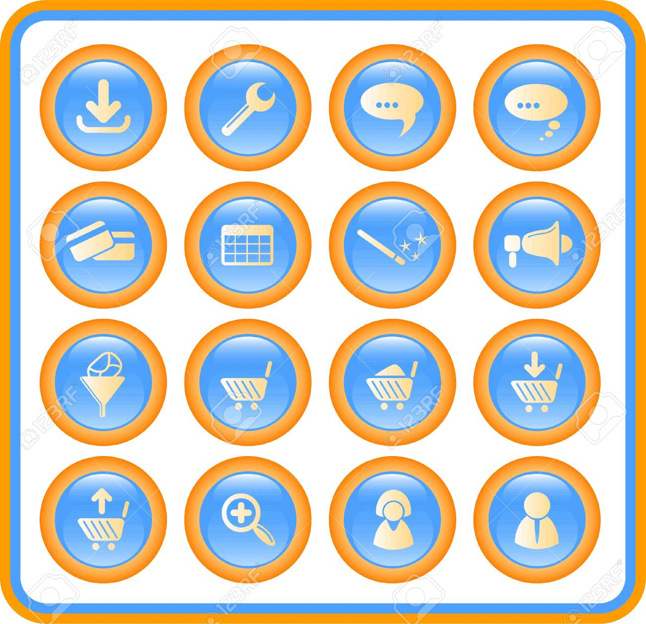 Website raster iconset. Vector version is available in my portfolio Stock Vector - 5164743