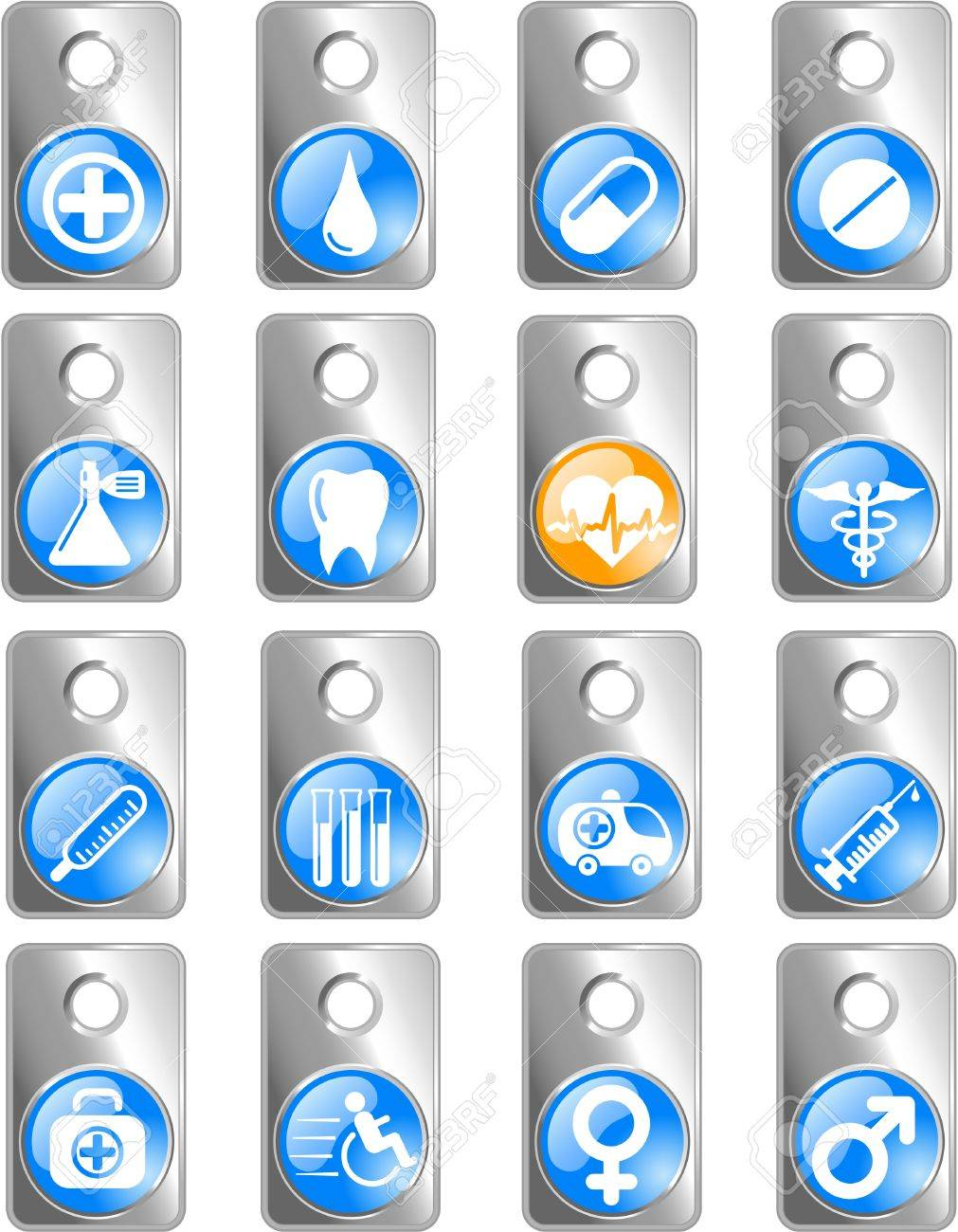 Medical and health care vector icons Stock Vector - 5164898