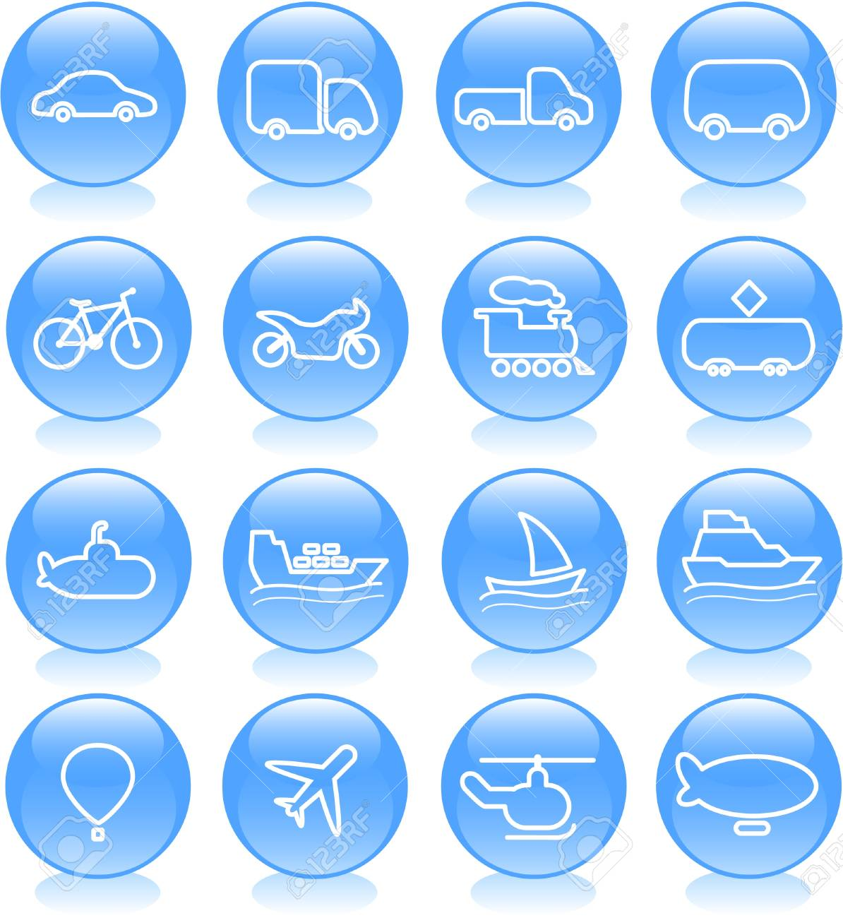 Travel and transportation vector icons Stock Vector - 5169688