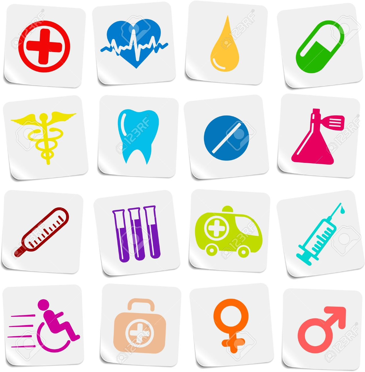 Medical and health care vector icons Stock Vector - 5169780