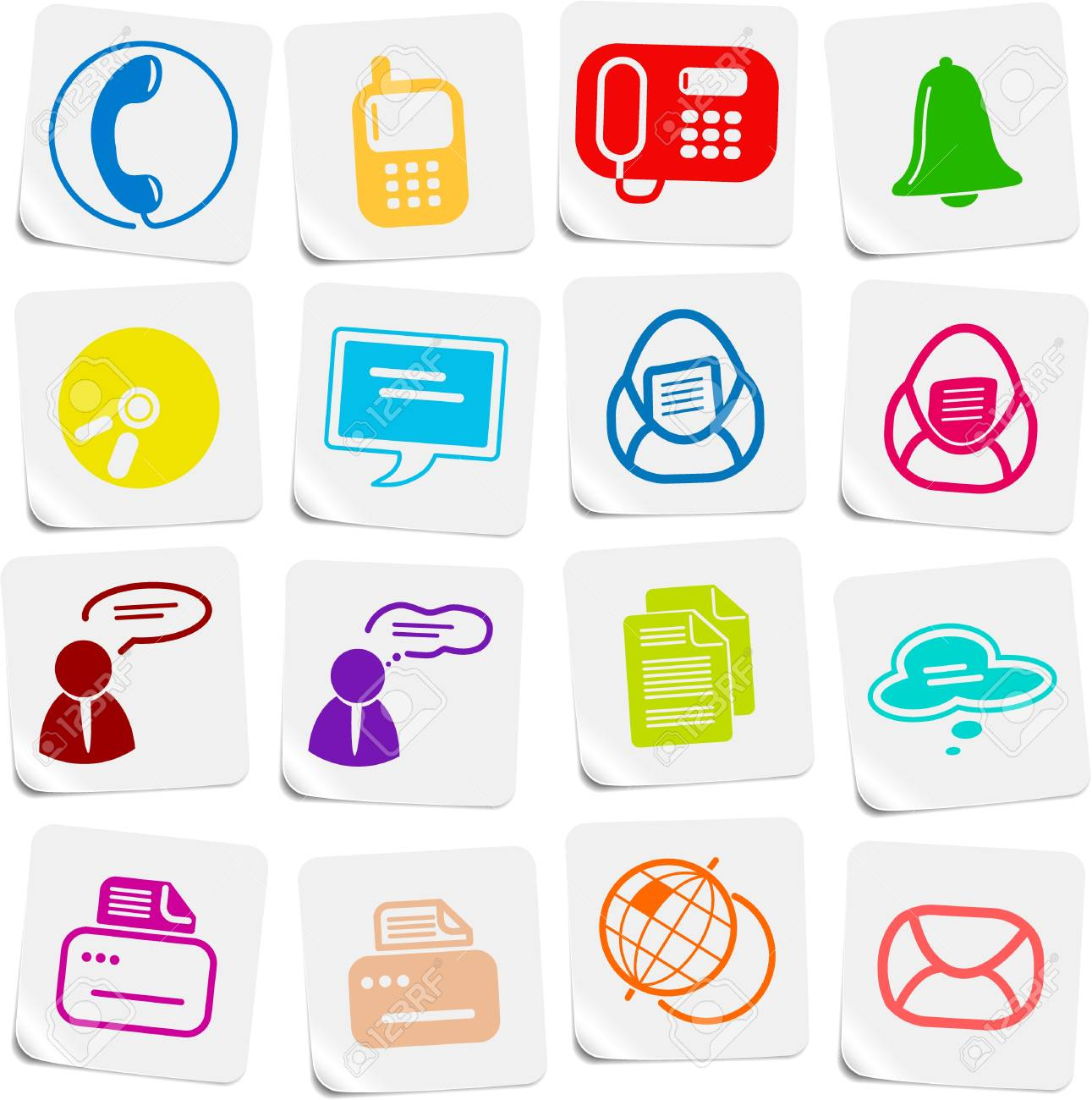 Miscellaneous office and communication vector icons Stock Vector - 5169788