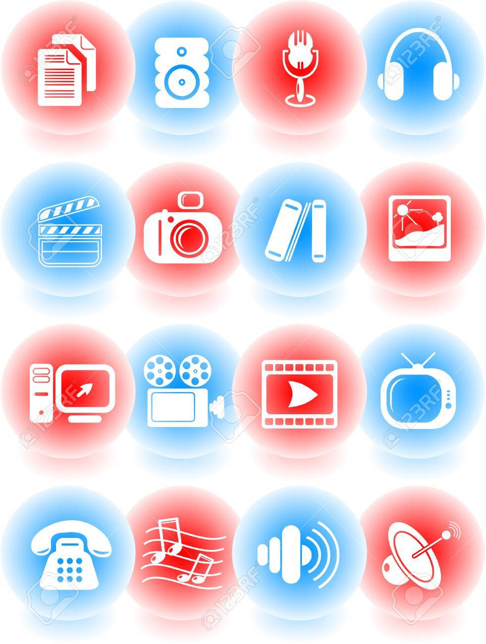 Miscellaneous multimedia vector icons Stock Vector - 5169802