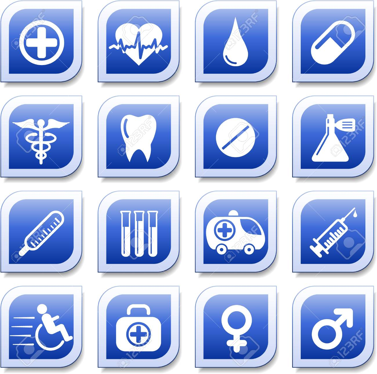 Medical and health care vector icons Stock Vector - 5640931