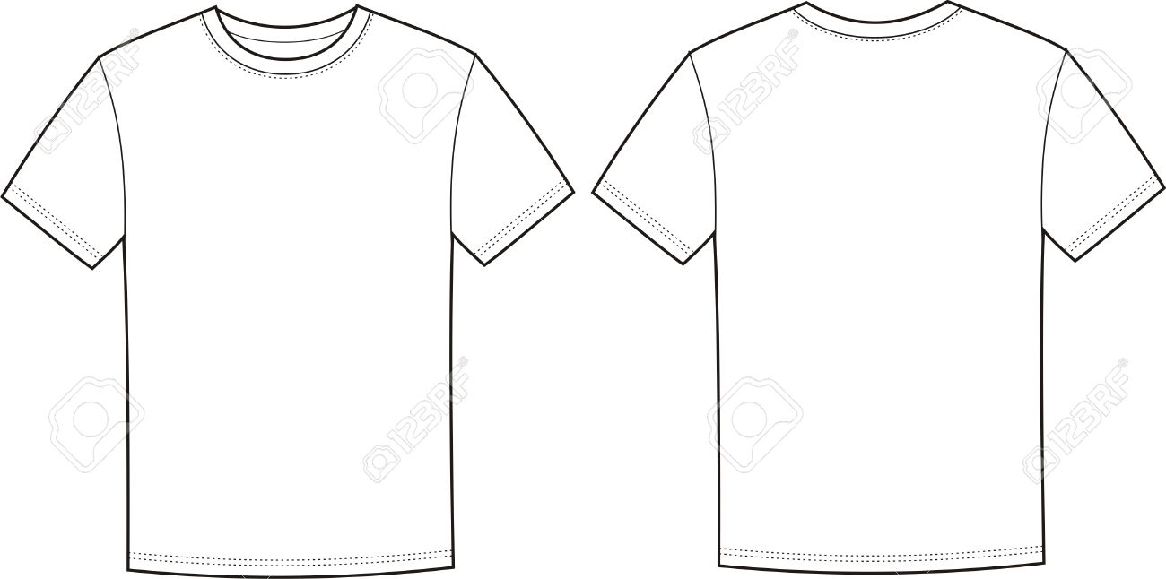 Illustration Of T Shirt Front And Back Views Stock Vector