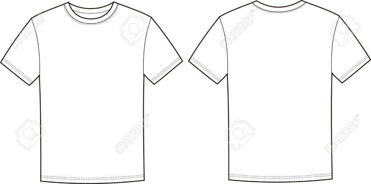 T シャツの前面と背面の図のイラスト素材ベクタ Image 20281043
