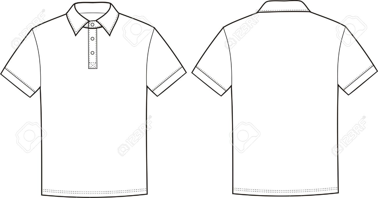 vector illustration of polo t shirt front and back views royalty rh 123rf com polo shirt vector polo shirt vector free download