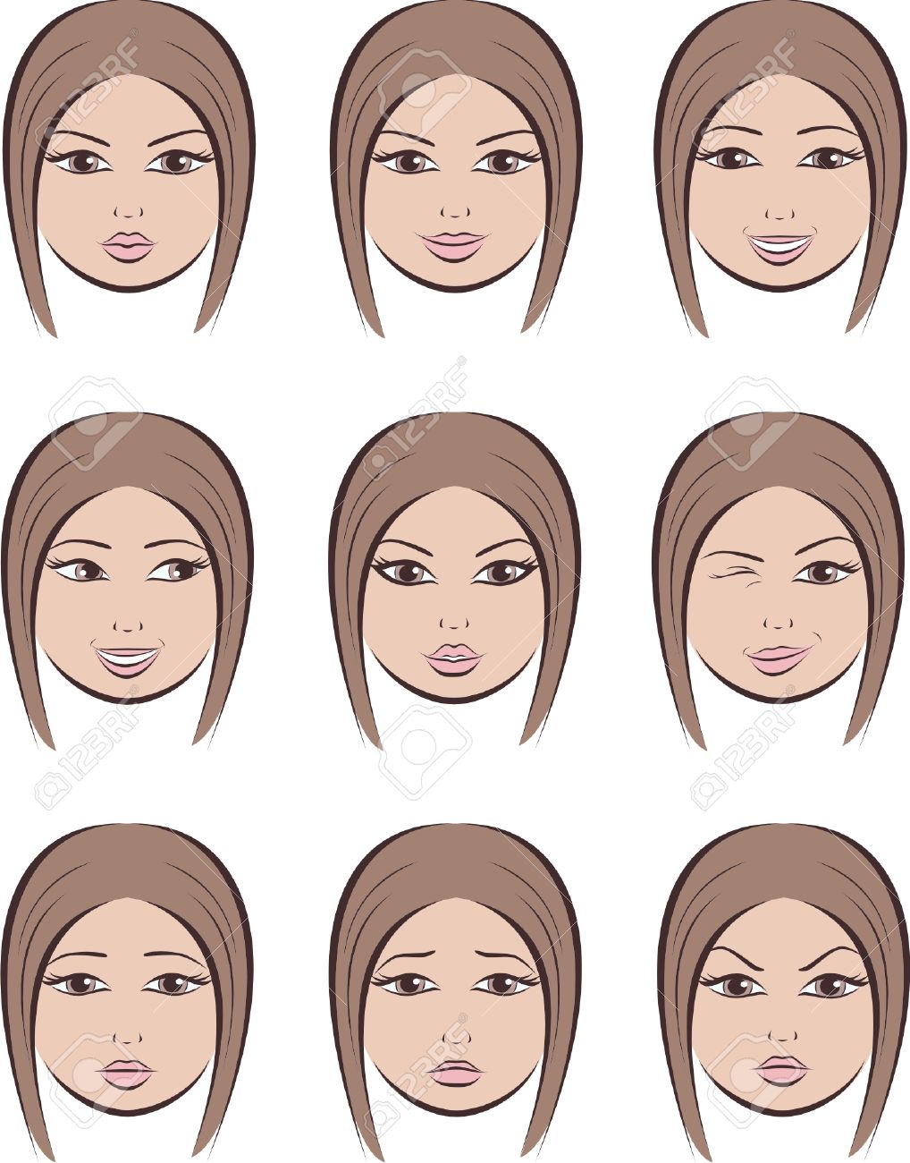 Facial expressions women use