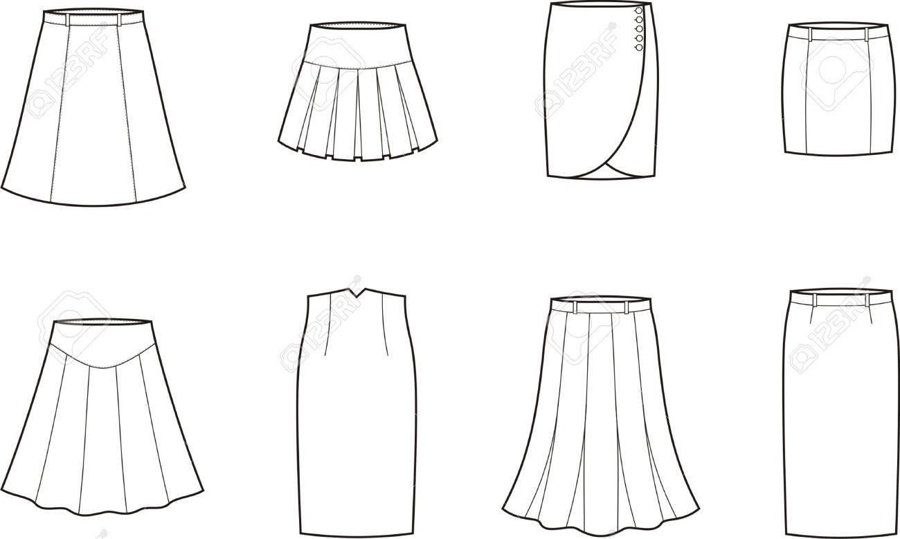 ベクトル イラスト スカートのセットのイラスト素材ベクタ Image