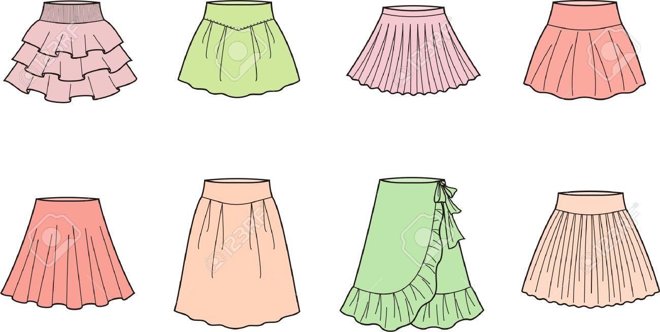 女性のスカートのベクトル イラストのイラスト素材ベクタ Image