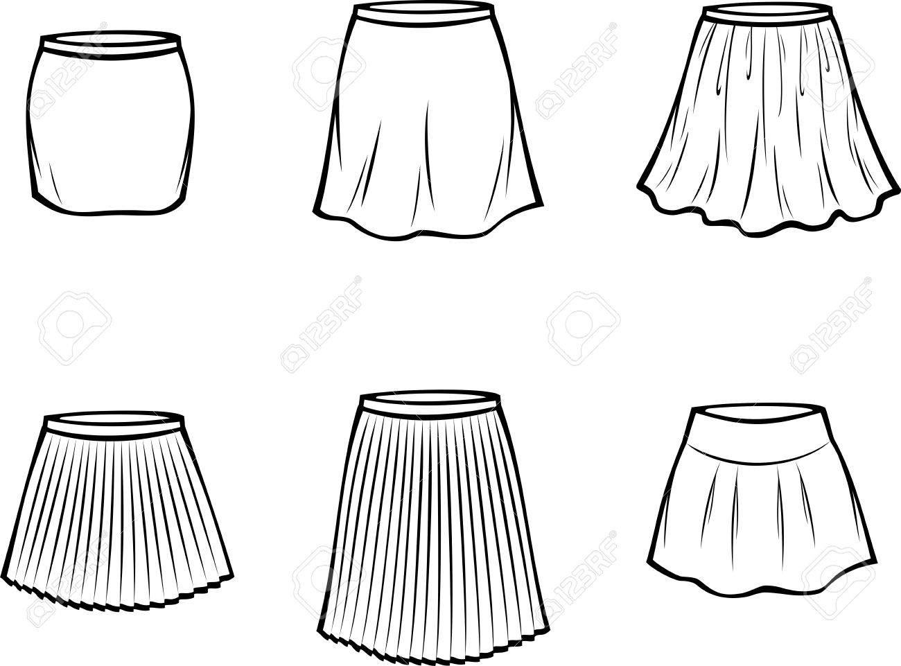 女性のスカートのベクター イラストですカジュアルな服のイラスト素材