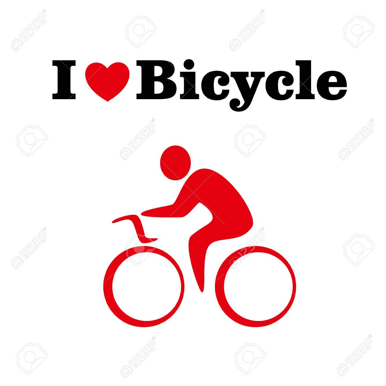 I Love Bicycle Concept Vector Icon 10 Eps Royalty Free Cliparts