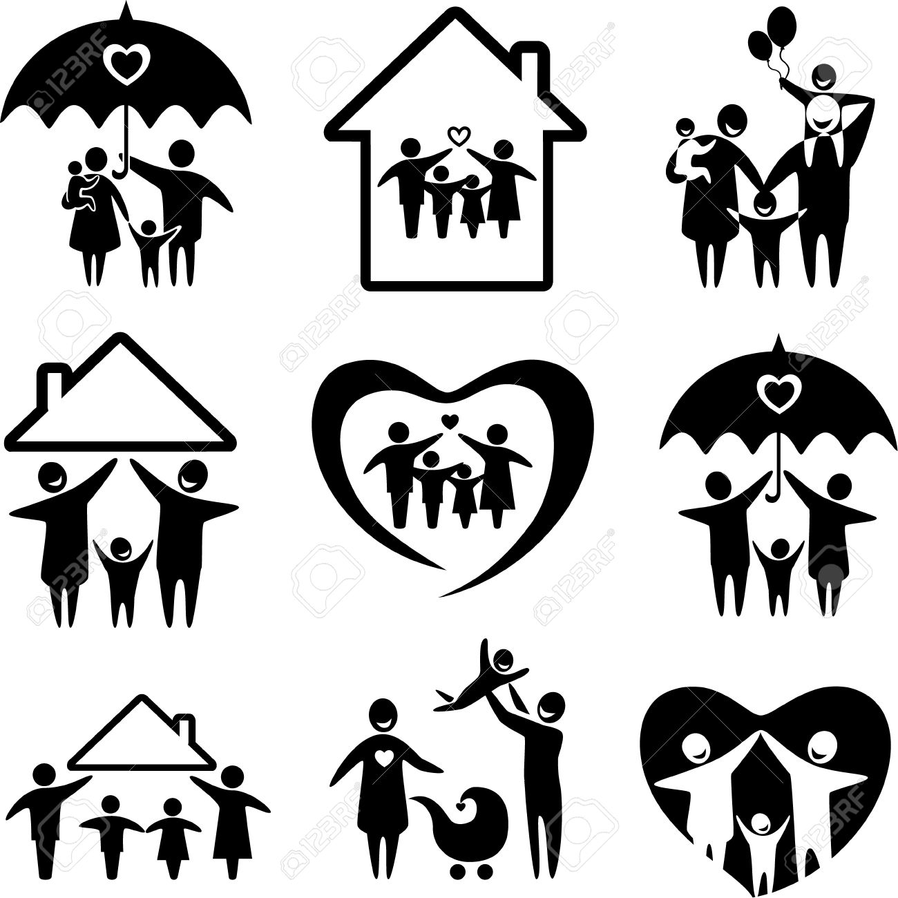 Symbol for mother and son gallery symbol and sign ideas big set of family icons happy family concepts father mother happy family concepts father mother daughter biocorpaavc