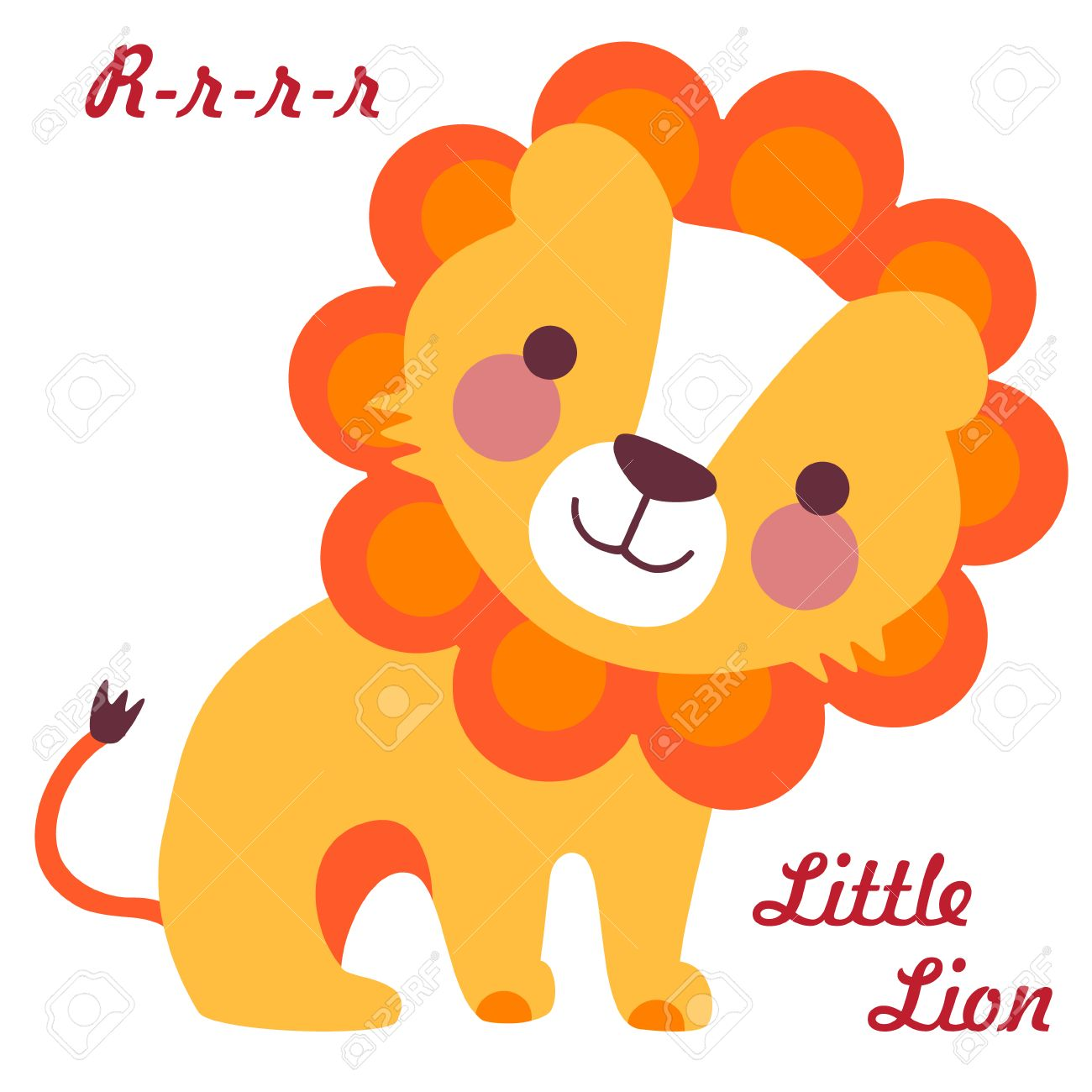 かわいい小さなライオンのベクター イラストです赤ちゃんライオンの
