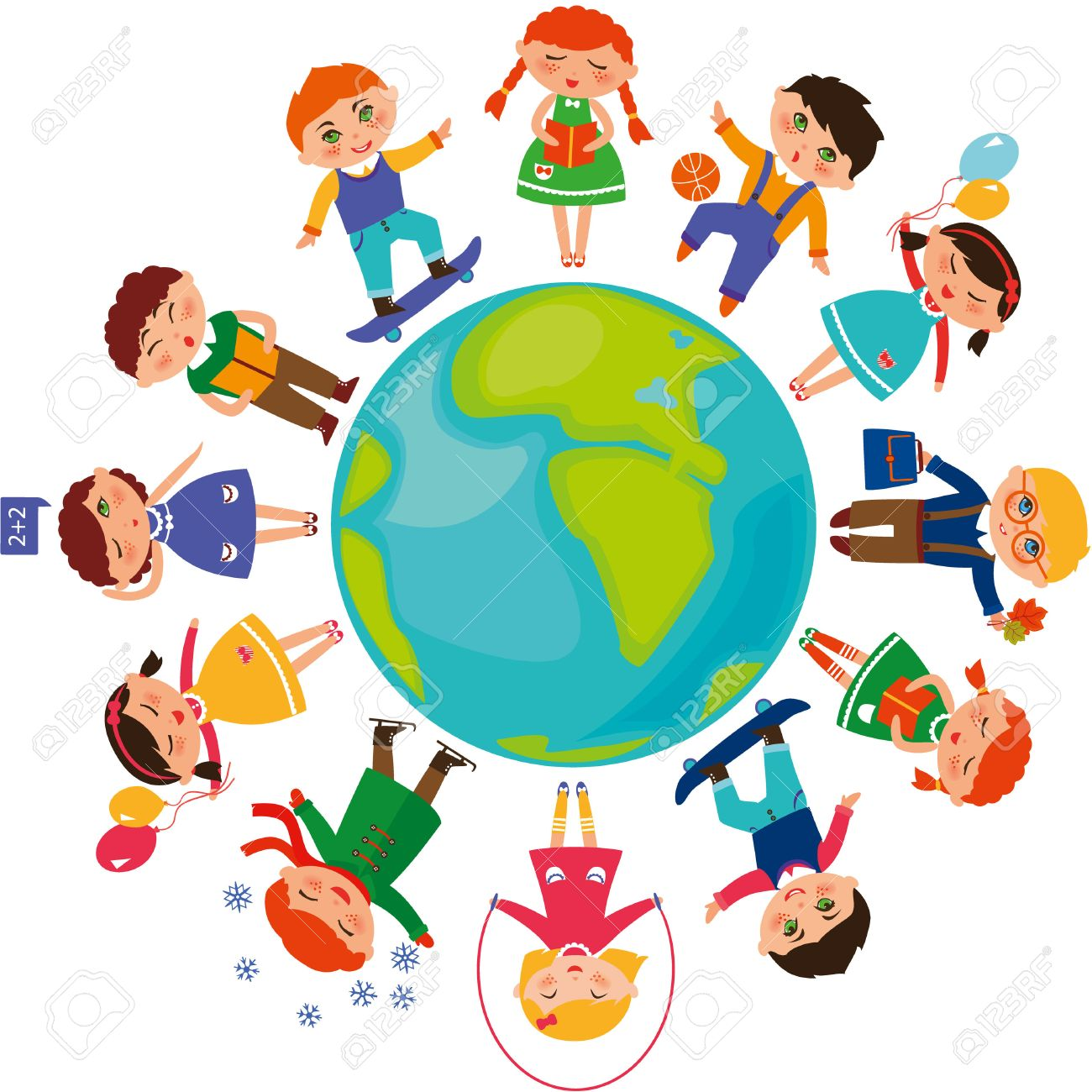 cute children around the world royalty free cliparts vectors and rh 123rf com