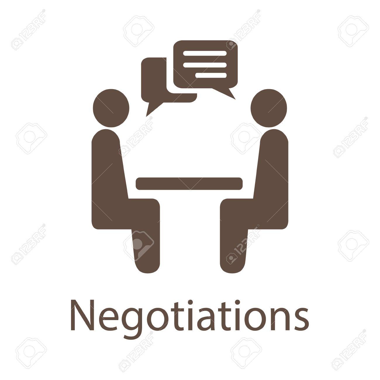 Negotiation Vector Icon. - 54227464