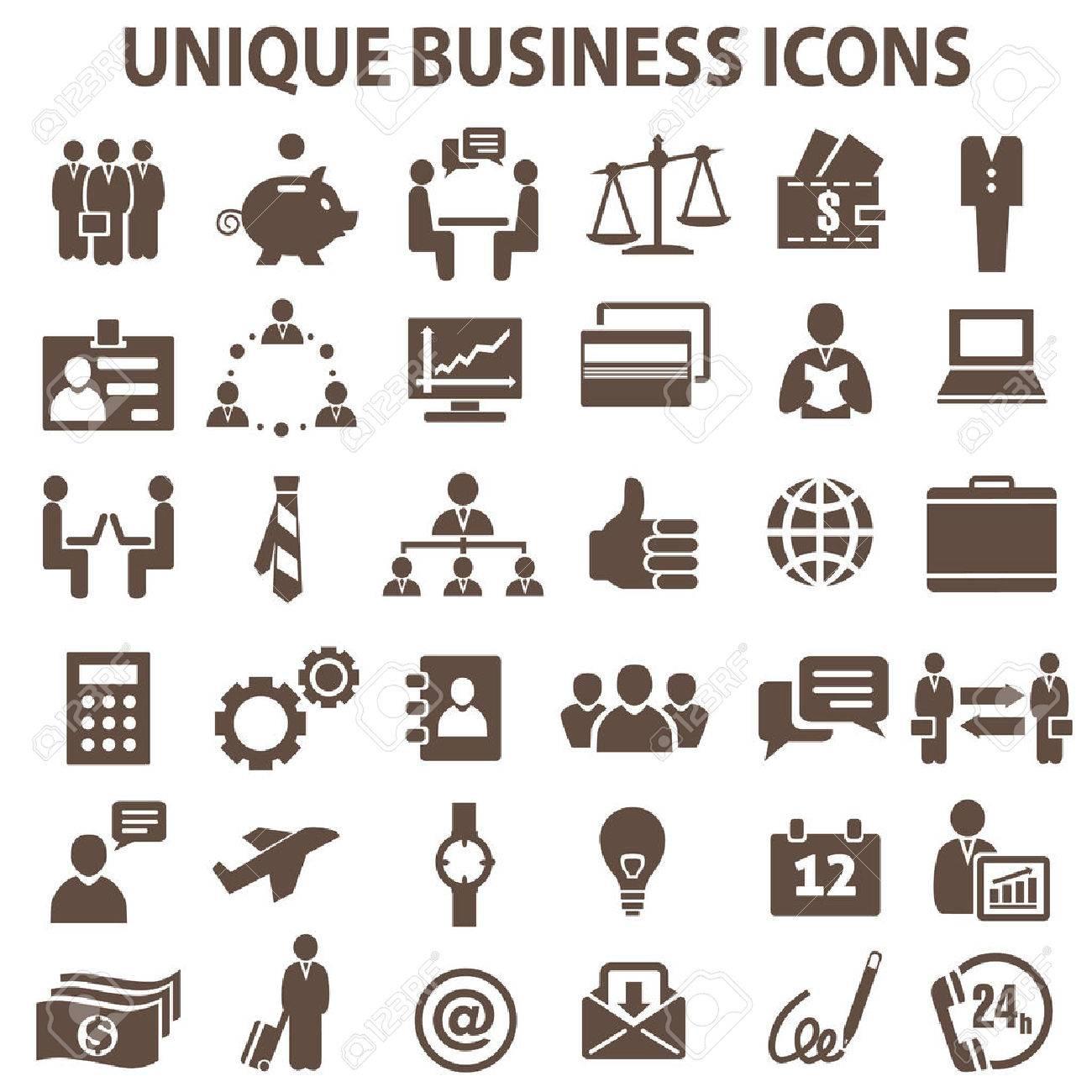 Set of 36 unique business icons. - 54227470