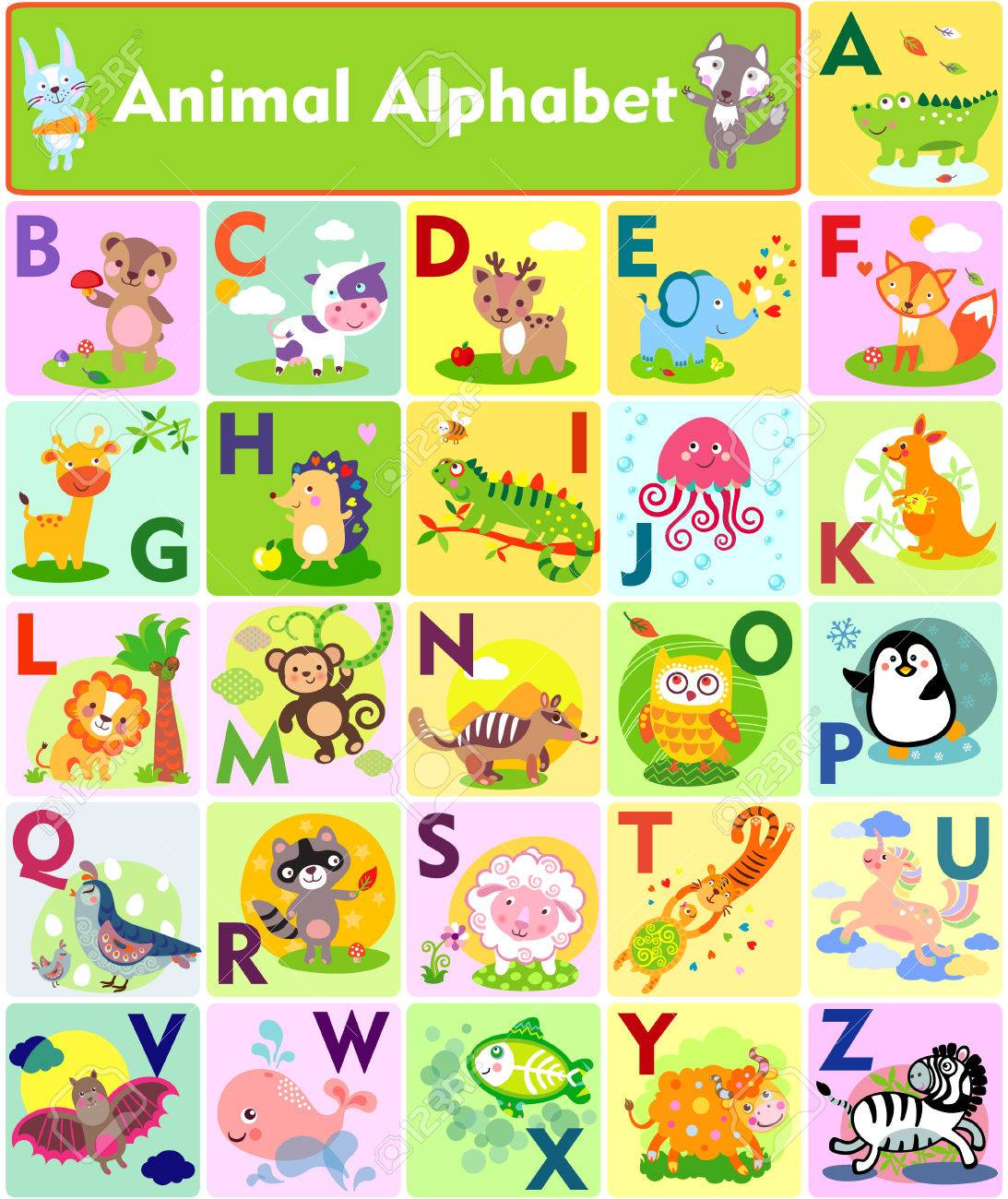 A-Z Animals List