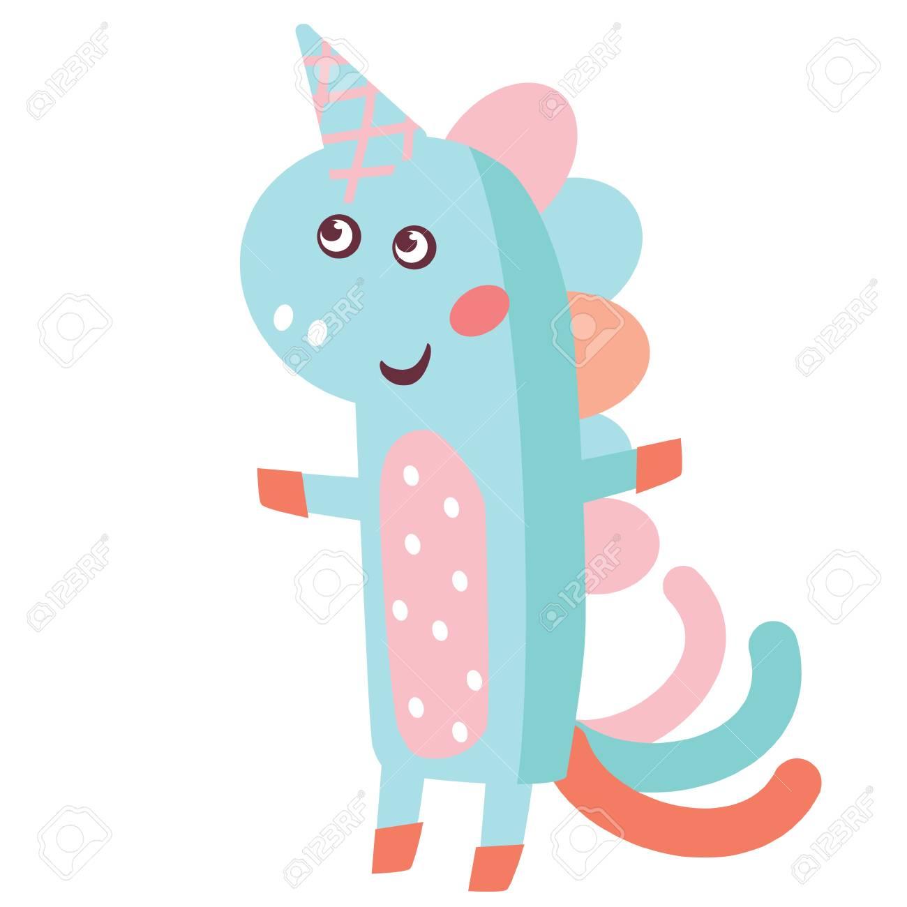 かわいい小さなユニコーンのイラスト。かわいい動物イラスト