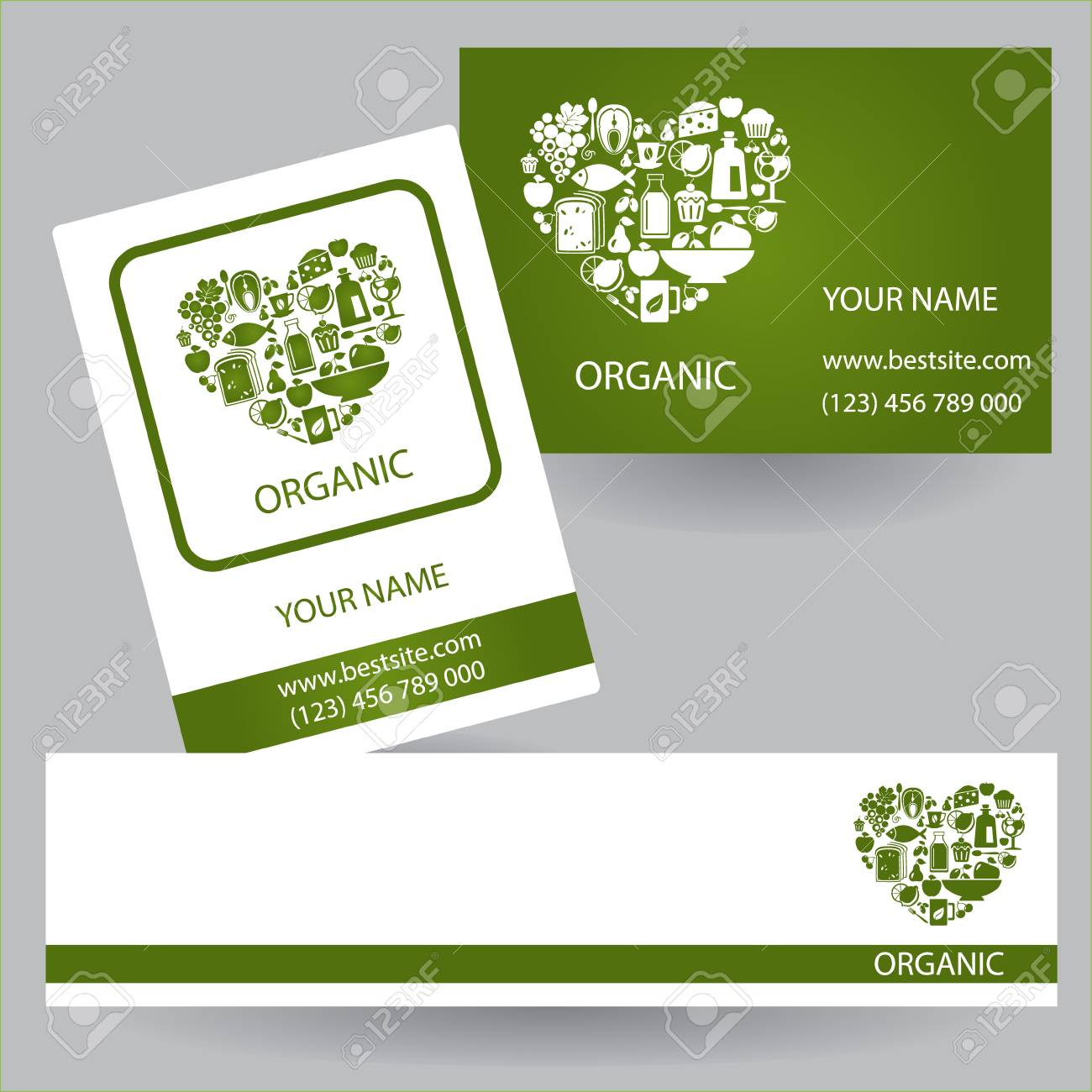 business card organic business card organic concept business