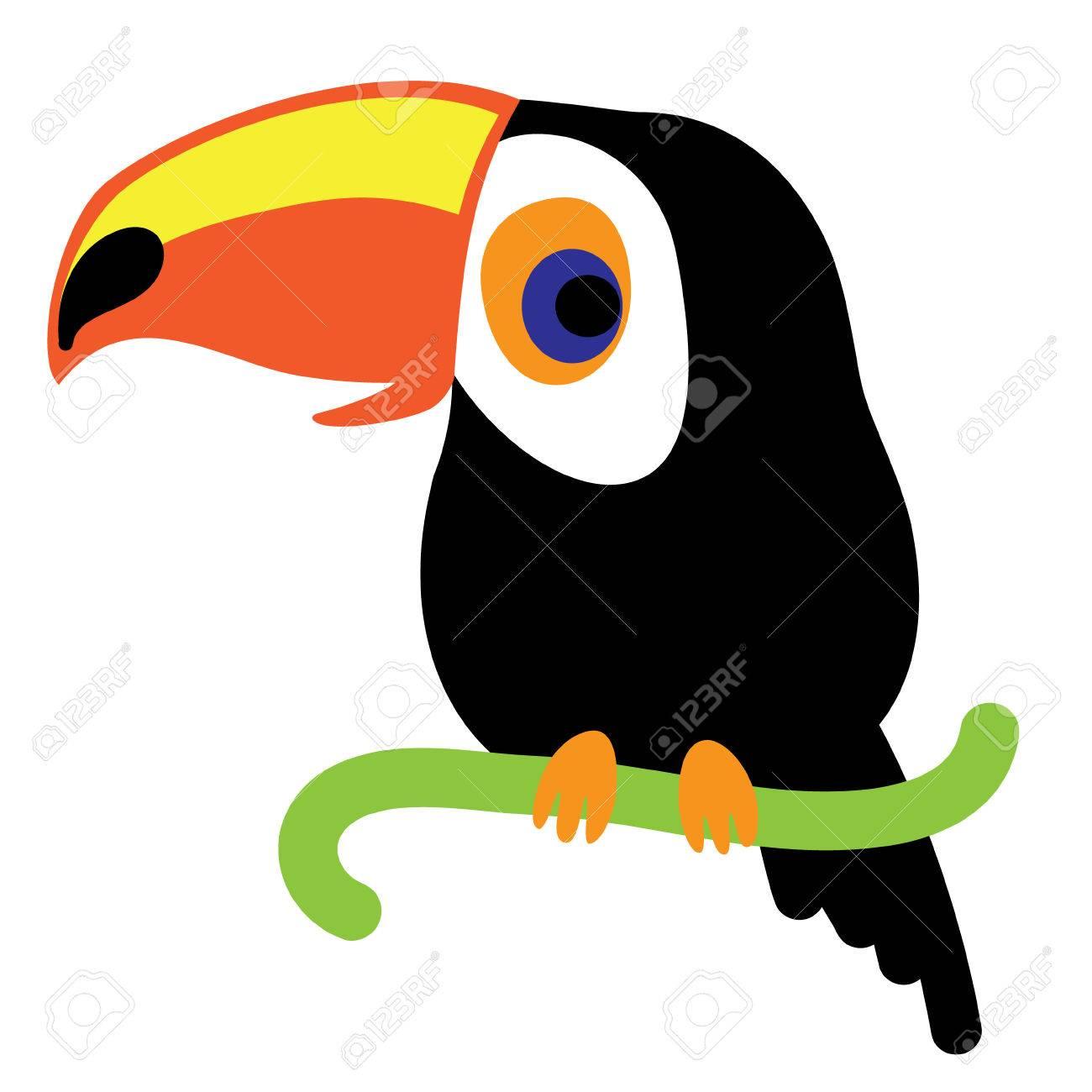 Ein Beispiel Für Eine Schöne Tukan, Im Format. Ein Netter Tukan Vogel Bild  Für