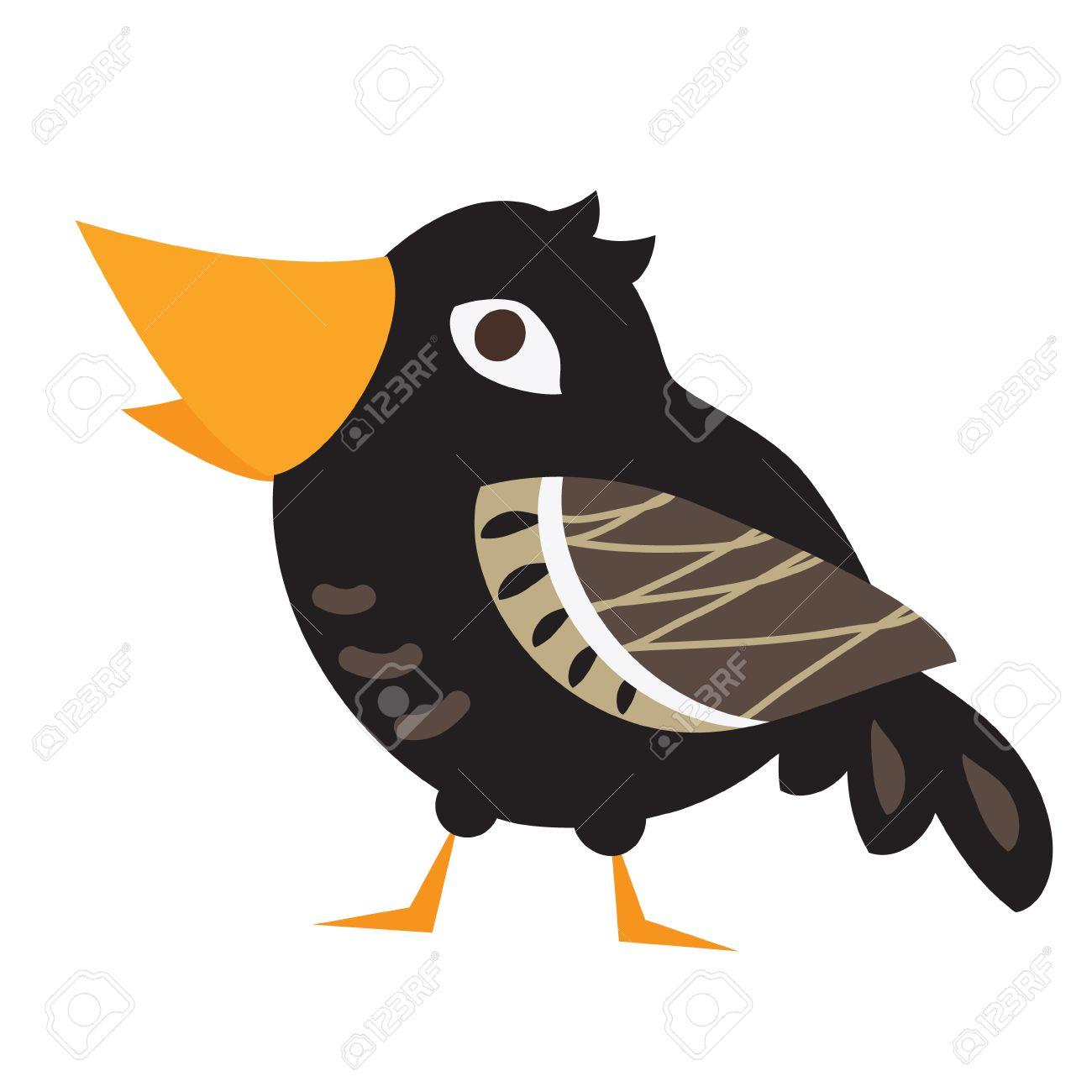 Eine Abbildung Eines Netten Krähe Im Format. Nizza Dcrow Vogelbild Für  Kinder Bildung Und Spaß