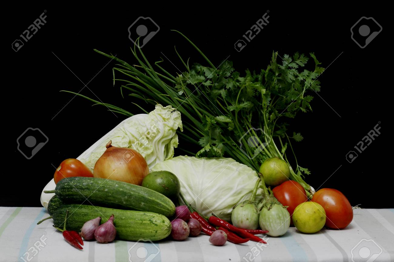 Thai vegetables set still life style - 50075565