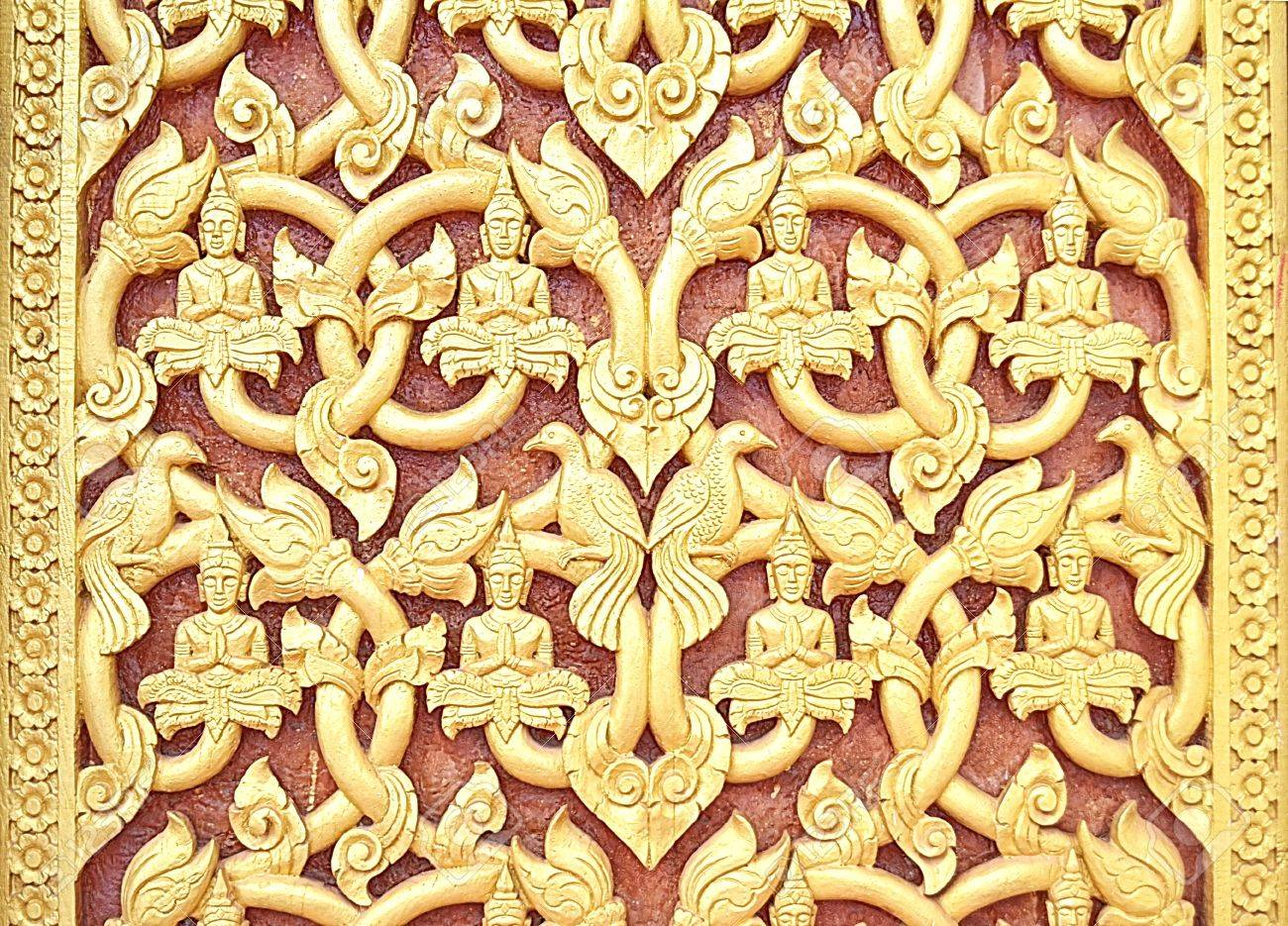 Pattern Of Laos,Wood Carving Art Stock Photo, Picture And Royalty ...