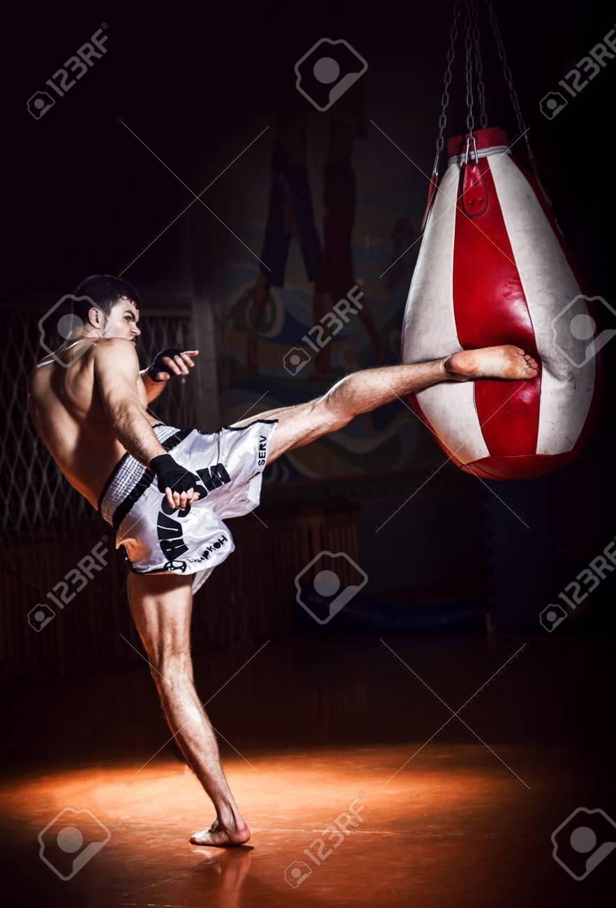 Thai boxing Artem Levin in studio - 39354299