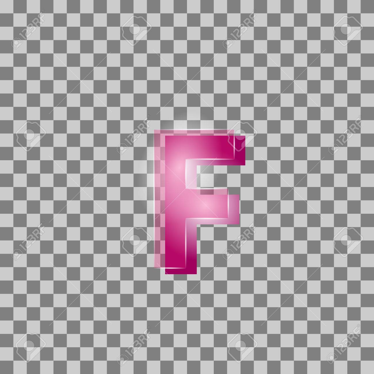 Vector. Letters Are Pink In Color But Isolated Background. Can ...