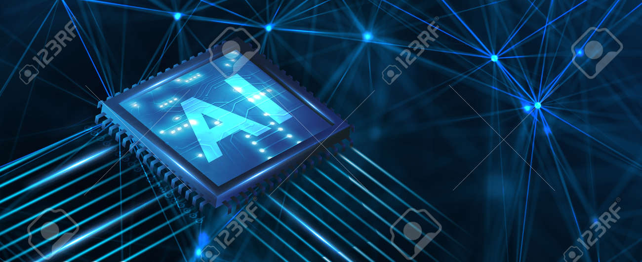 AI Learning and Artificial Intelligence Concept. Business, modern technology, internet and networking concept. - 148444040