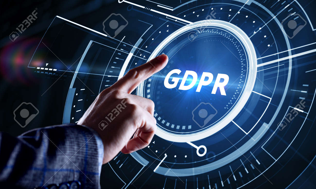 Business, Technology, Internet and network concept. GDPR General Data Protection Regulation. - 158883374