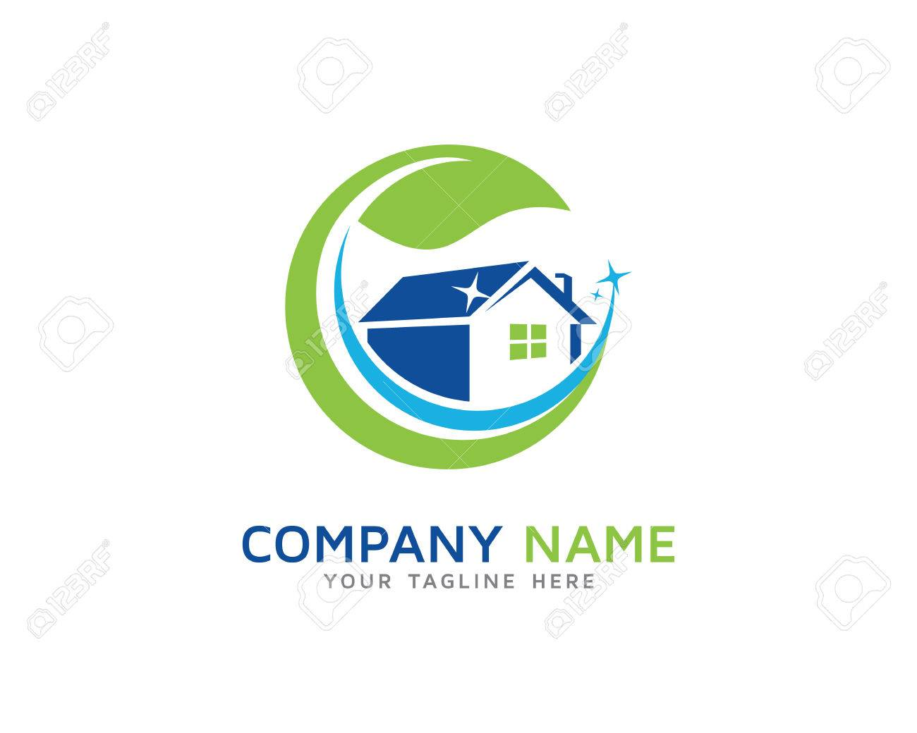 Home Cleaning Service Logo Royalty Free Cliparts Vectors And Stock Illustration Image 69775644