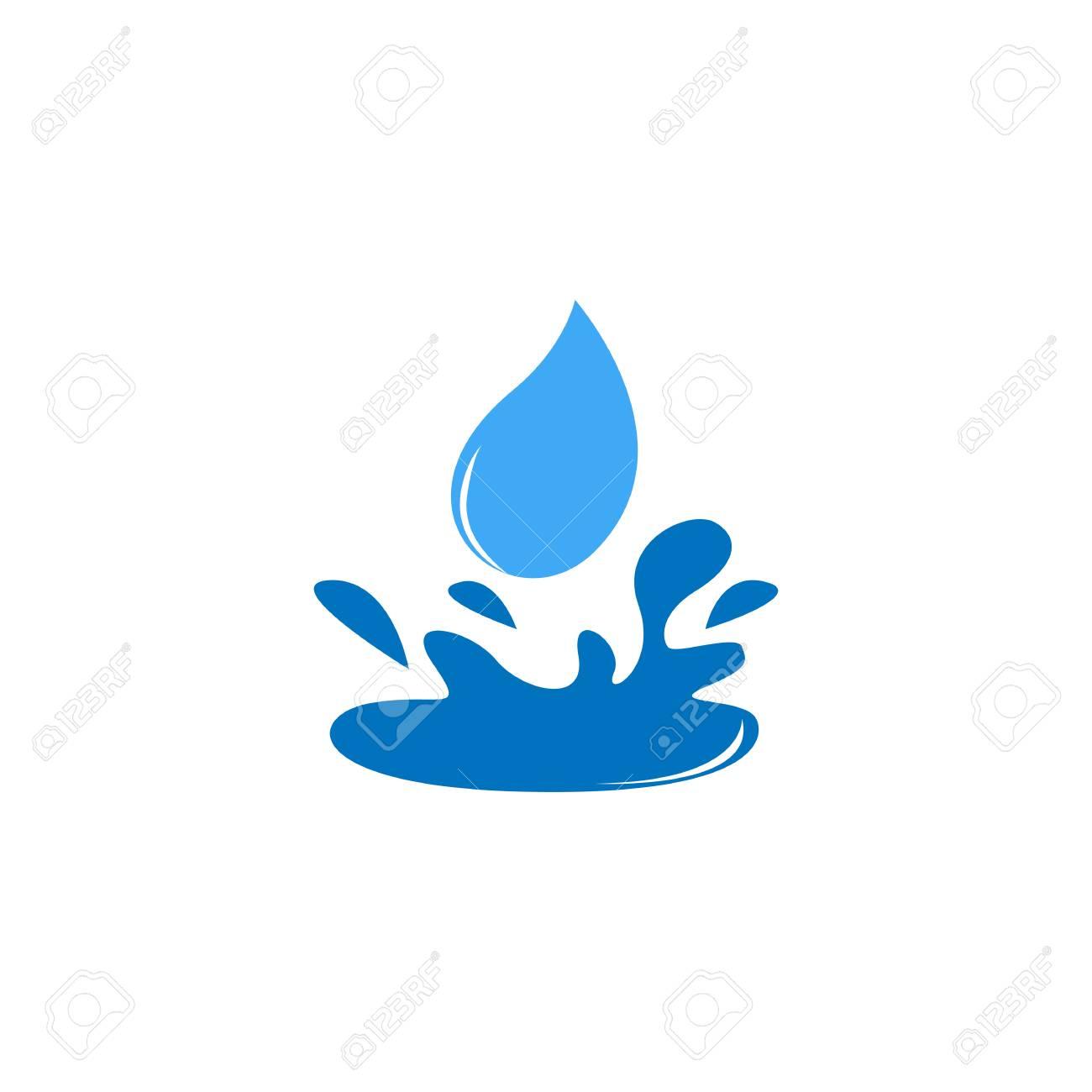 water drop splash icon logo design element royalty free cliparts