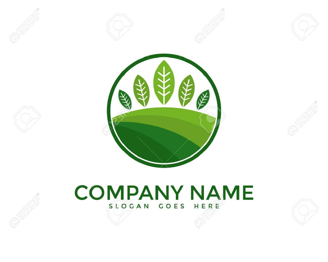 Plantilla De Diseño De Logotipo De Paisajismo De Naturaleza ...