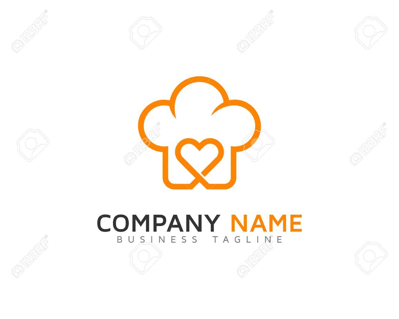 Plantilla Del Diseño Del Logotipo De La Cocina Del Amor ...