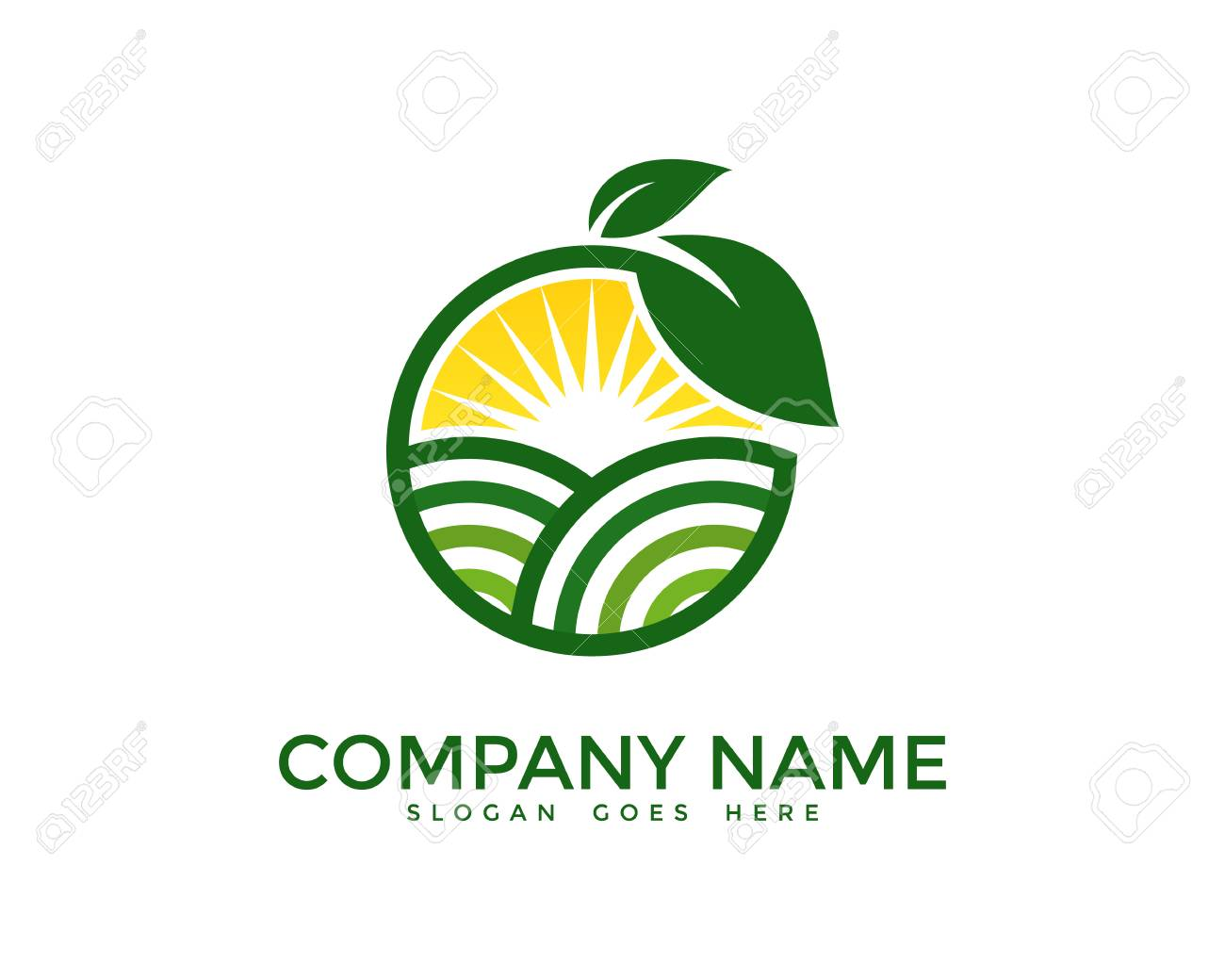 Plantilla Del Diseño Del Logotipo De La Granja Del Paisajismo ...