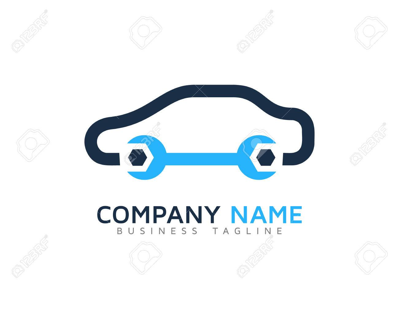 Auto Car Service Logo Design Template Royalty Free Cliparts Vectors