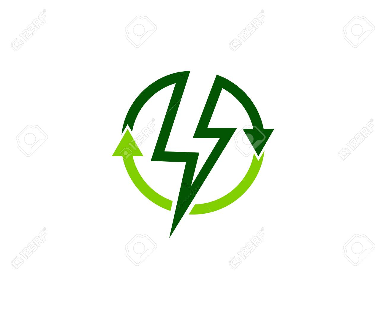 recycle energy logo design template royalty free cliparts vectors