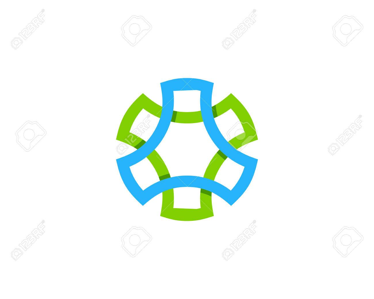 spin wheel logo design template royalty free cliparts vectors and