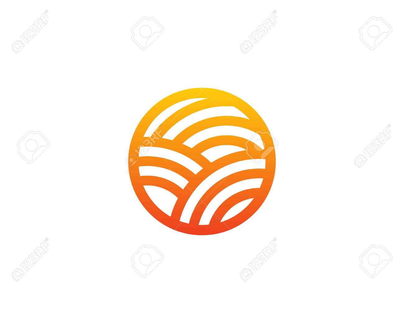 Sun Farm Logo Design Template Royalty Free Cliparts, Vectors, And ...