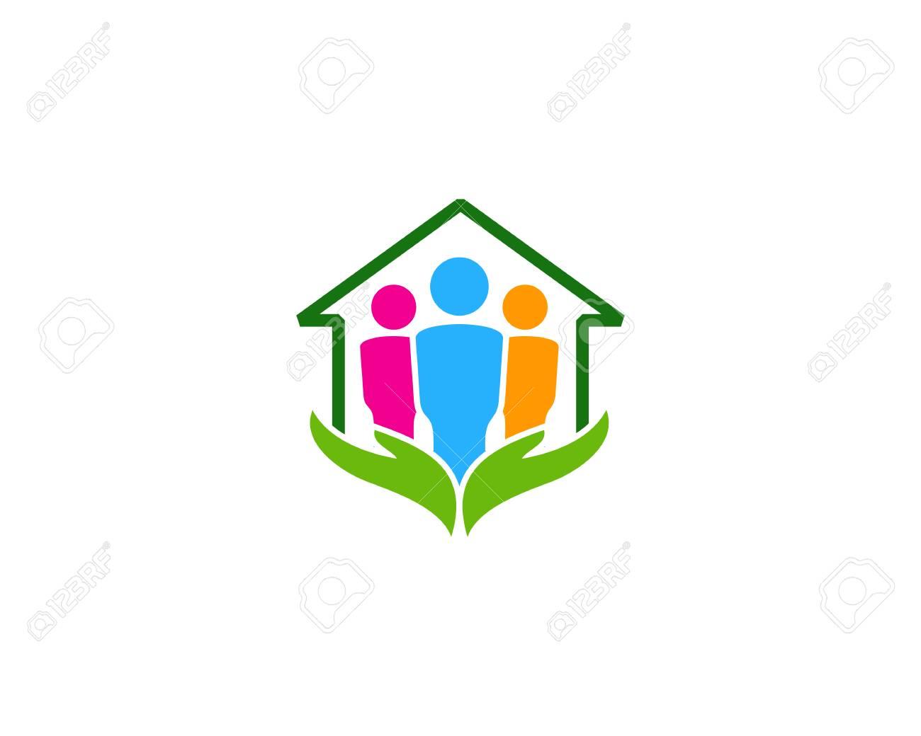 Care Team Home Logo Icon Design - 100600665
