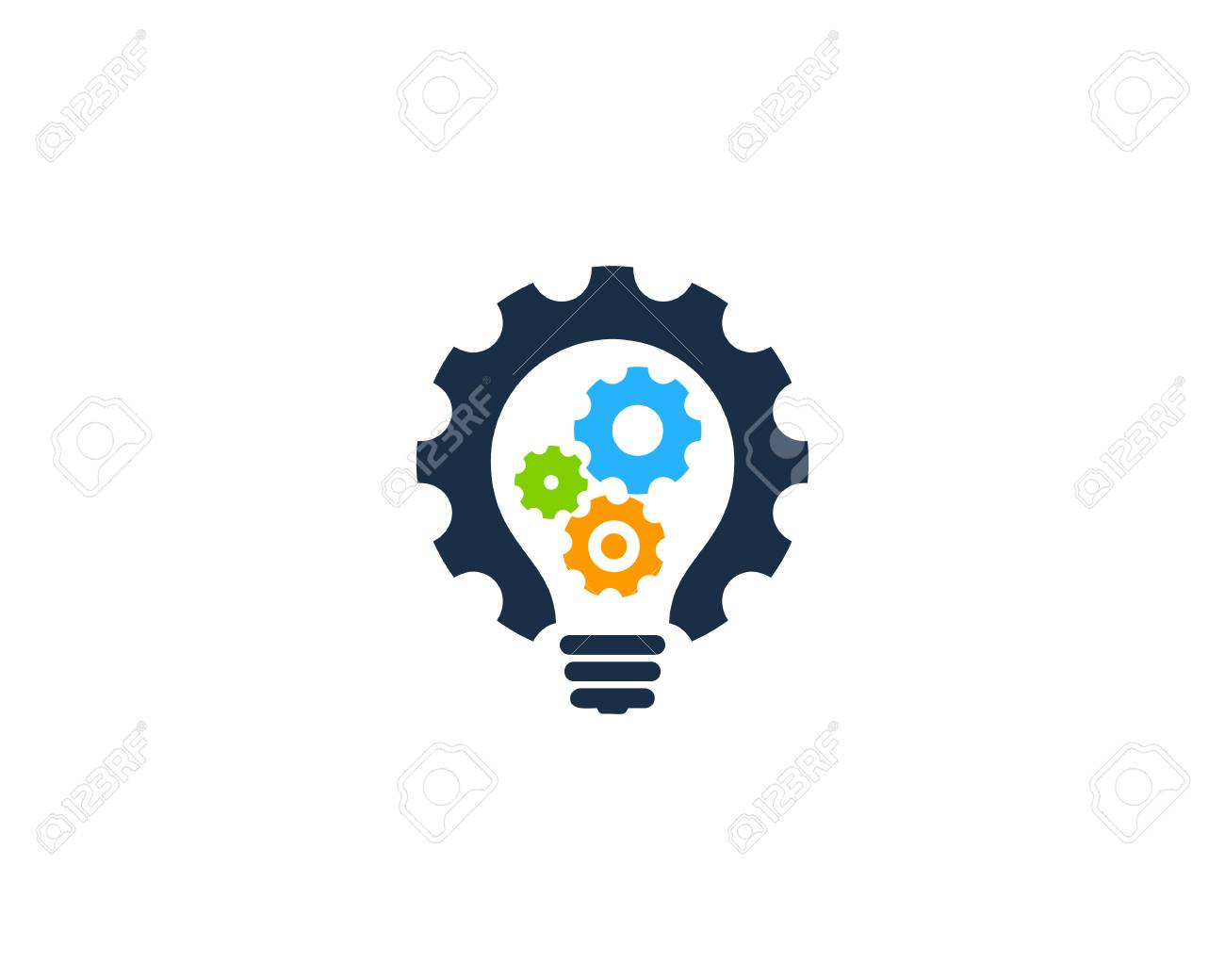 Gear Icon Logo Design Element - 80611305