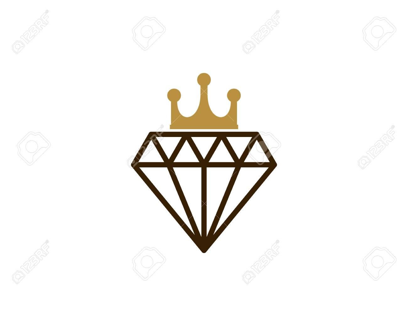 diamond with king crown icon logo design element royalty free rh 123rf com king crown logo icon