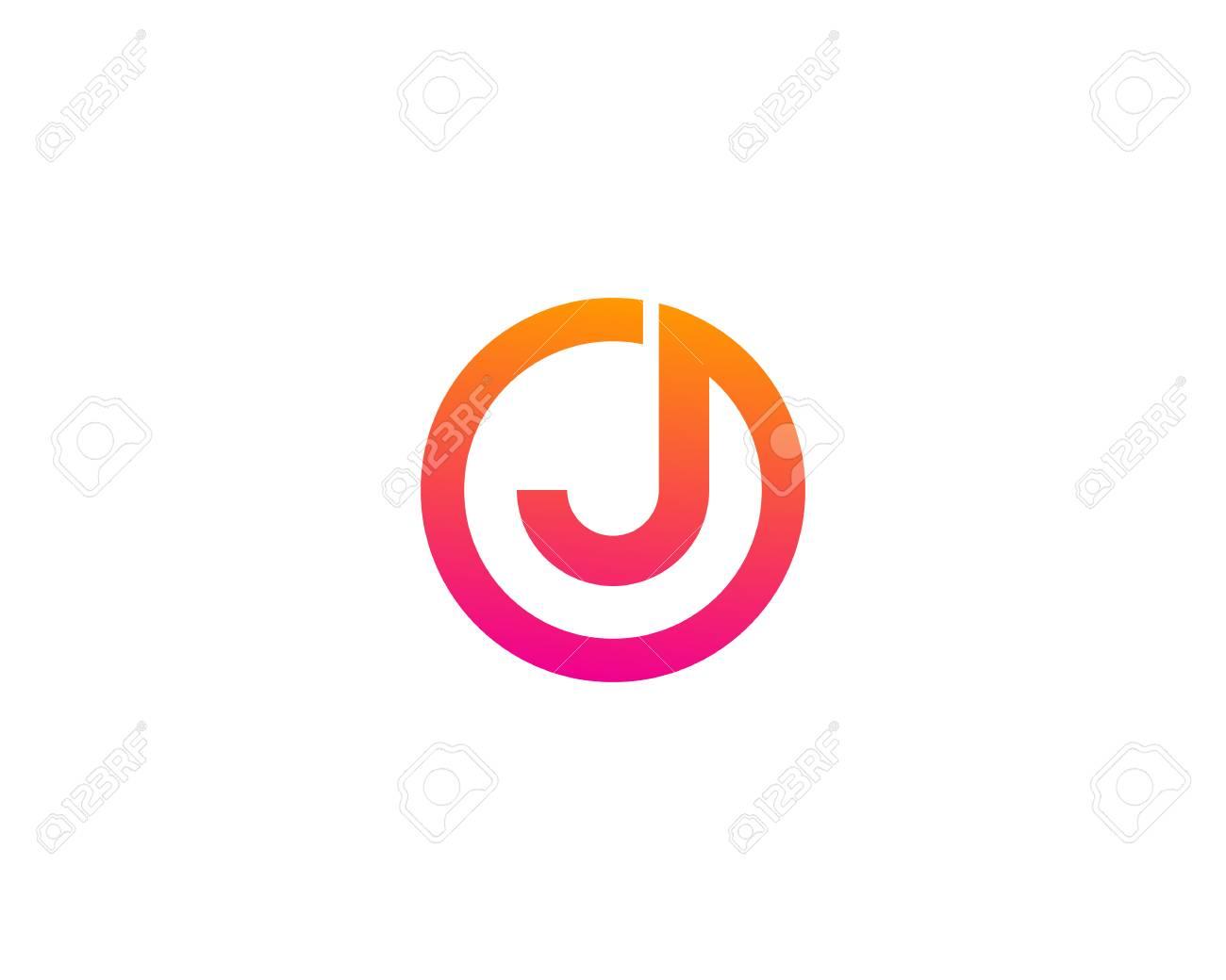 Letter J Icon Logo Design Element - 80692629